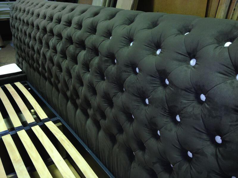 кровать в стиле честерфилд