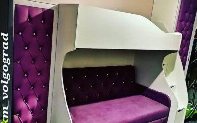 Кровать-чердак двухъярусная